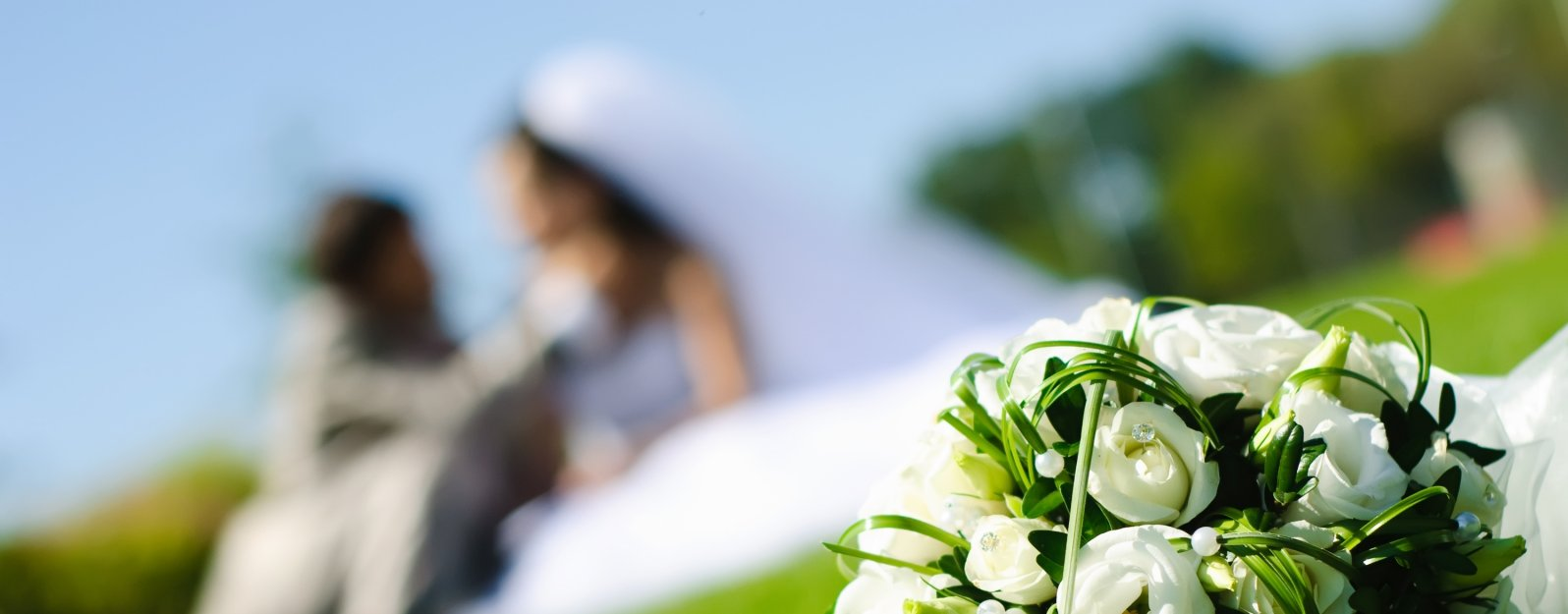 Video di sposi nel giardino